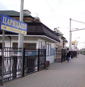 """Табличка с названием станции """"Царицыно"""""""