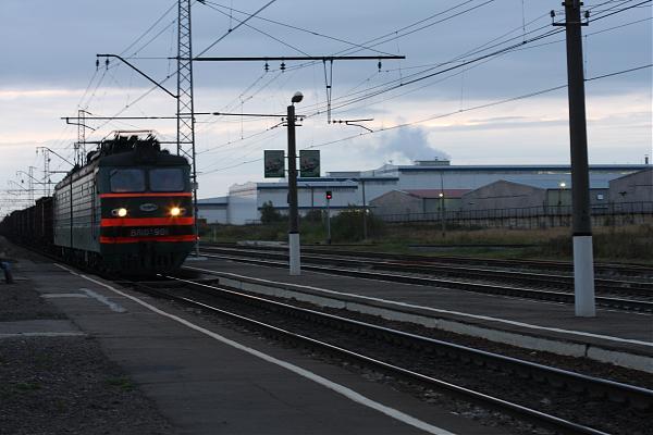 """Электропоезд на станции """"Малино"""""""
