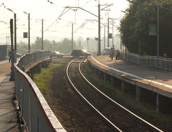 """Платформы на станции """"Новопетровская"""""""
