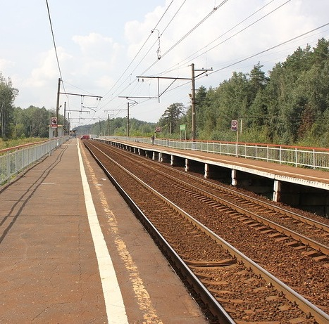 Западная платформа на станции Аникеевка