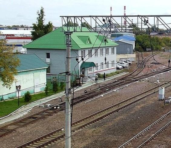"""Путевое развитие и постройки на станции """"Шатура"""""""