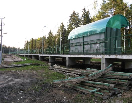 """Платформа """"Захарово"""" на транспортной линии Голицыно - Звенигород"""