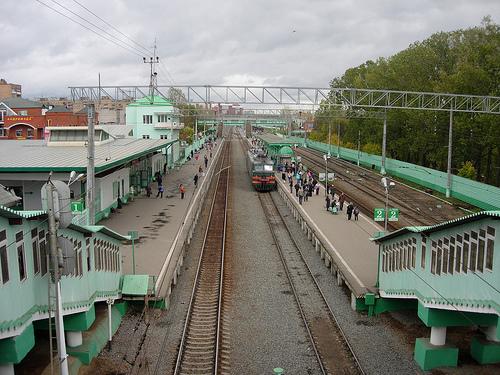 """Линии железной дороги на станции """"Одинцово"""""""