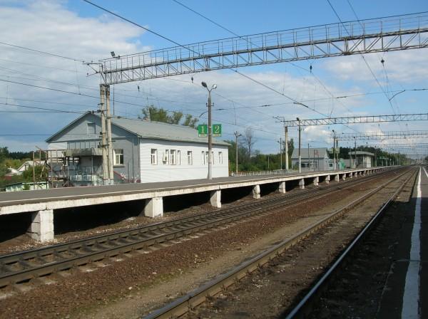 """Линии железной дороги около станции """"Кривандино"""""""