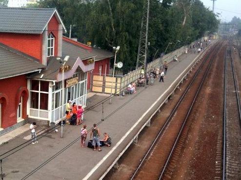 """Боковая платформа на станции """"Ногинск"""""""