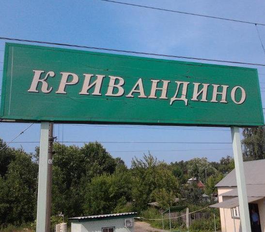 """Табличка с названием станции """"Кривандино"""""""