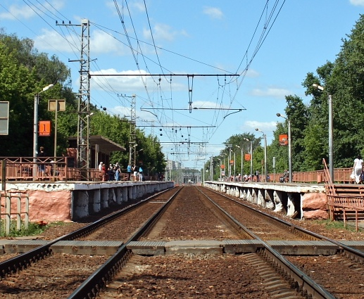 "Настил через ж/д пути на станции ""Дегунино"""