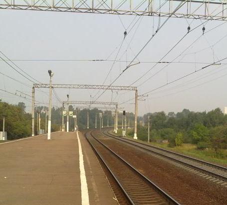 """Платформа на станции """"Булатниково"""""""