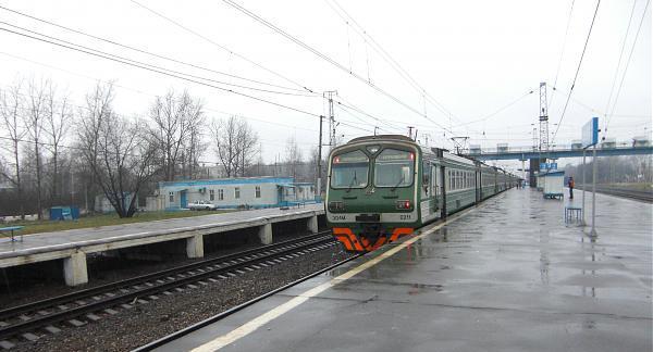 Отправления электропоезда от платформы Апрелевка