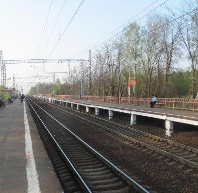 """Линии железной дороги на станции """"Новодачная"""""""