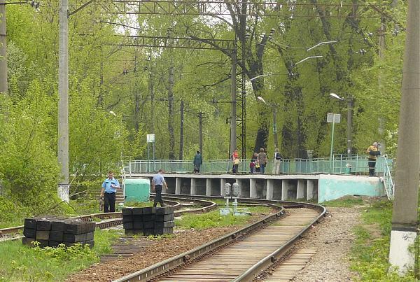 """Линии железной дороги около станции """"Ромашково"""""""