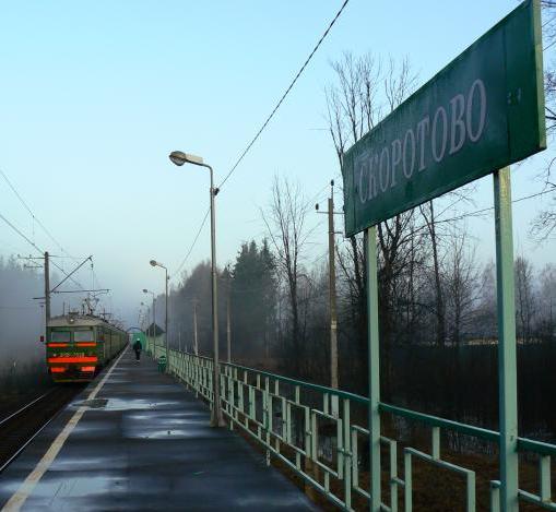 """Табличка с названием станции """"Скоротово"""""""