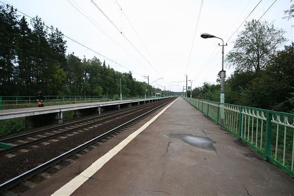 Западная (чётная) горловина станции тушино рижского направления московской жд, г москва