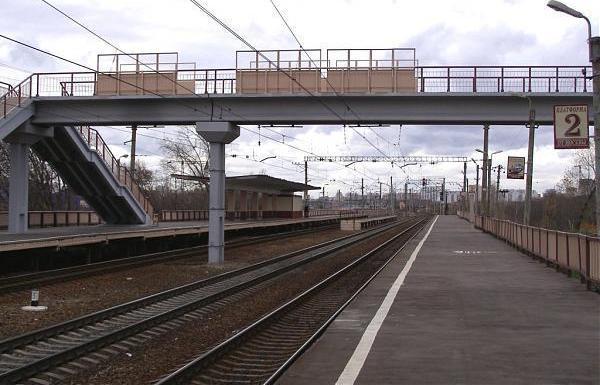 """Пешеходный мост на станции """"НАТИ"""""""