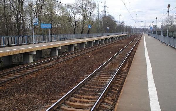 """Линии железной дороги около платформ на станции """"Соколовская"""""""