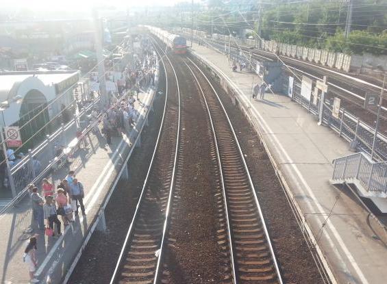 """Железнодорожные пути на станции """"Серп и Молот"""""""