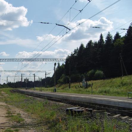 """Линии железной дороги возле станции """"Дюдьково"""""""