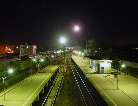 """Станция """"Щёлково""""в вечернее время суток"""