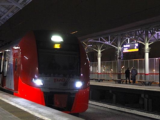 "Электропоезд возле платформы ""Андроновка"""