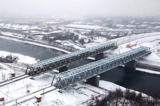 """Сабуровские мосты около станции """"Москворечье"""""""