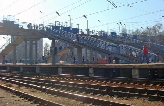 """Линии железной дороги на станции """"Нахабино"""""""