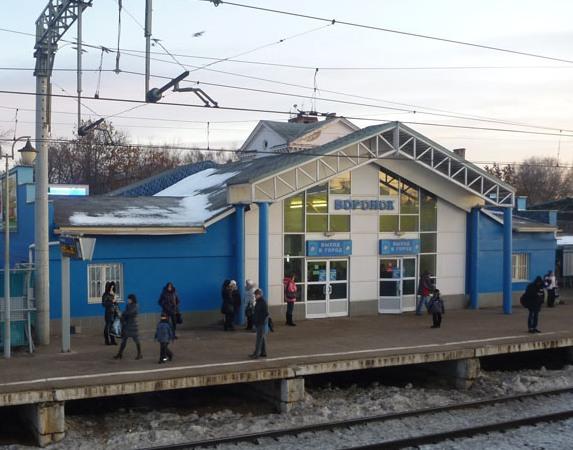 """Здание вокзала на станции """"Воронок"""""""