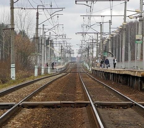 """Линии железной дороги на станции """"Малые Вязёмы"""""""