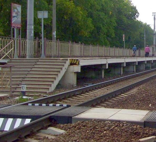 """Переход через линии железной дороги на станции """"Стреглово"""""""