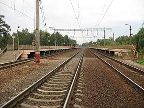 """Линии железной дороги около станции """"Подрезково"""""""