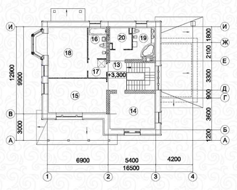 Вилла 250 второй этаж