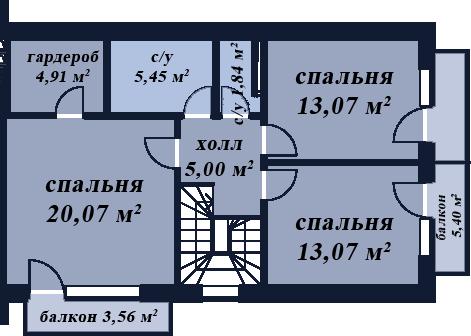 Дуплекс Кубань второй этаж
