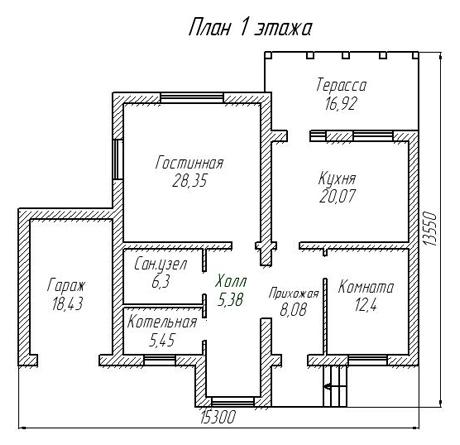 Полесье проект 6 первый этаж