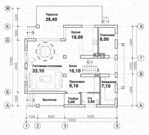 Вилла 200–2 первый этаж
