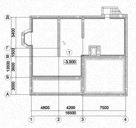 Вилла 300 цокольный этаж