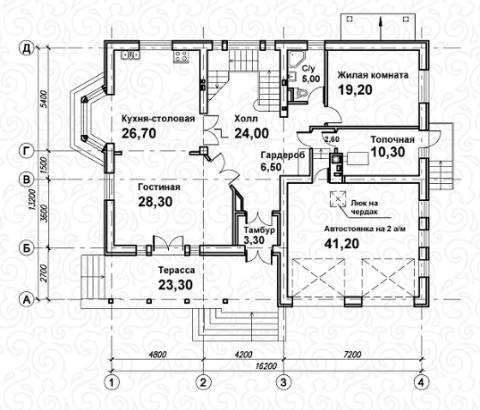 Вилла 300 первый этаж