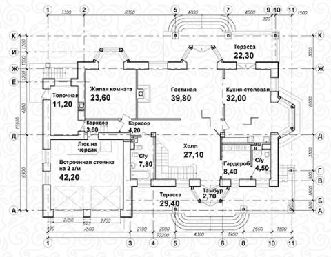 Вилла 350 первый этаж