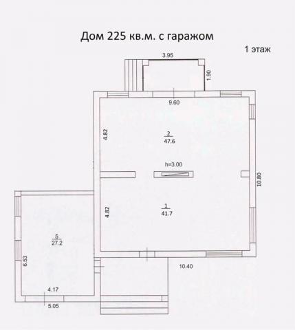 Дом 215 м2 с гаражом первый этаж