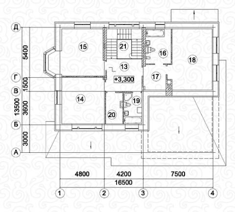 Вилла 300 второй этаж