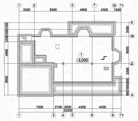 Вилла 350 Кантри цокольный этаж