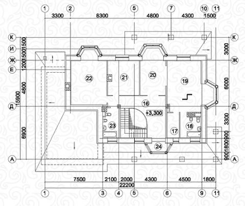 Вилла 350–2 второй этаж