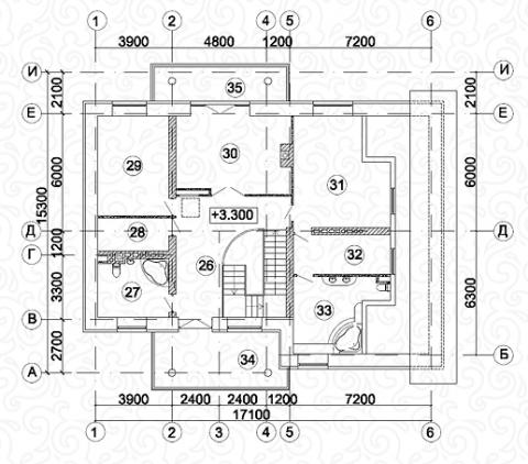 Вилла 450 третий этаж