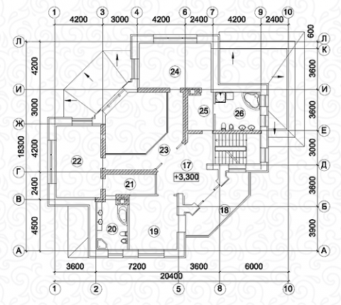Вилла 450–2 второй этаж