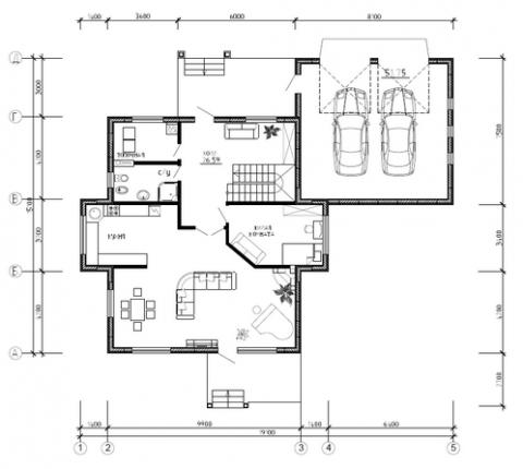 Калуга серия 208 + гараж первый этаж