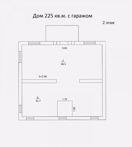 Дом 215 м2 с гаражом второй этаж