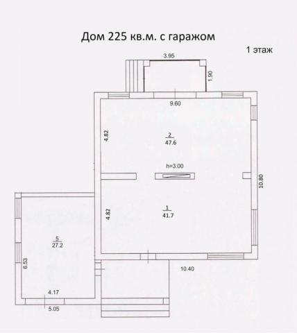 Дом 225 м2 с гаражом первый этаж