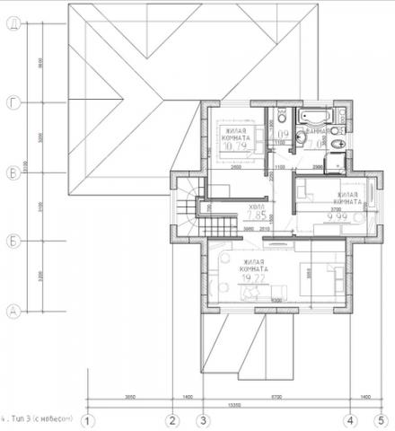 Калуга серия 144 + навес второй этаж