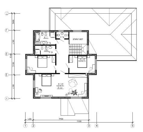 Калуга серия 208 + гараж второй этаж