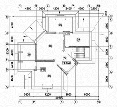 Вилла 450–2 третий этаж