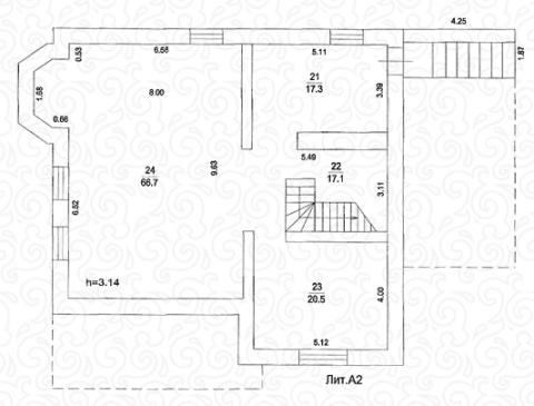Вилла 250 Кантри цокольный этаж