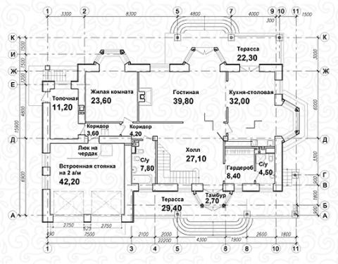 Вилла 350 Кантри первый этаж